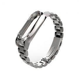 Сменный браслет для Mi Band 3 металлический (Серебро)