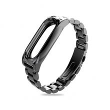 Сменный браслет для Mi Band 3 металлический (Черный)