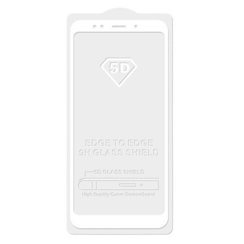 Защитное стекло 5D white для Xiaomi redmi 6
