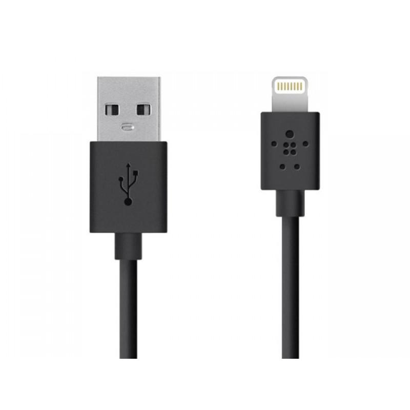 Кабель USB Belkin для Apple iPhone 5/6/7 (круглый шнур 1,2 метра)