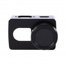 Алюминиевый корпус с винтовой крышкой объектива для Xiaomi Yi Action Camera Basic