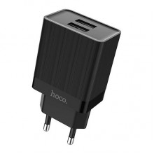 Сетевой адаптер Hoco C51A Prestige power dual port charger (Black)