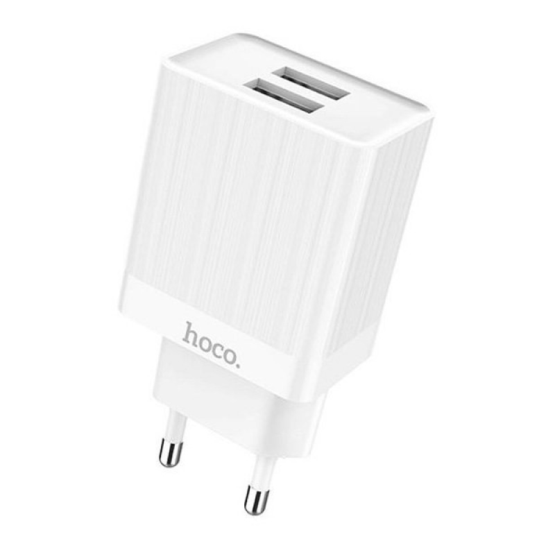 Сетевой адаптер Hoco C51A Prestige power dual port charger (White)