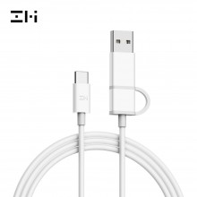 Кабель 2 in 1 USB/Type-C/Type-C Xiaomi ZMI 100см (AL311) Белый