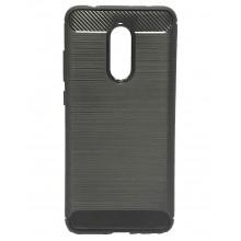Чехол накладка с вставками Carbon (Черный) для Xiaomi Redmi 5 Plus