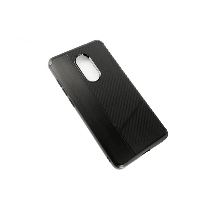 """Чехол накладка с вставками Carbon """"Brauffen"""" черный для Xiaomi redmi note 4/4x"""